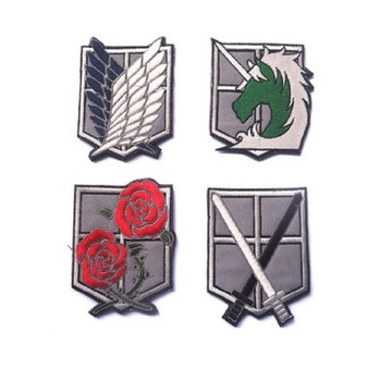 10pcs/lot 3D Embroidery armband Hook Attack on Titan Investigation Corps patch armband Scout Regiment Legion Survey Corps patch