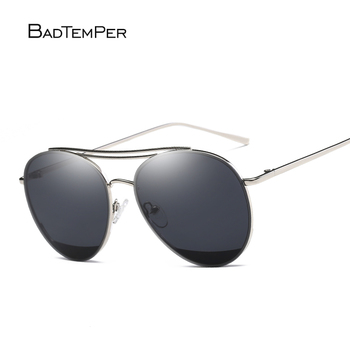 Badtemper Pilot Men's Sunglasses Polarized Vintage Sunglasses Women Brand Designer Sun Glasses For Men Oculos Female Metal Frame