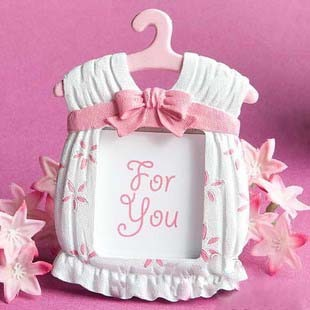 Factory directly sale 100PCS/LOT Baby shower Cute Baby Themed Photo Frame Favors - girl